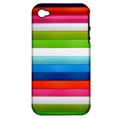 Colorful Plasticine Apple Iphone 4/4s Hardshell Case (pc+silicone) by BangZart