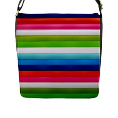 Colorful Plasticine Flap Messenger Bag (l)