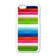 Colorful Plasticine Apple Iphone 6/6s White Enamel Case by BangZart