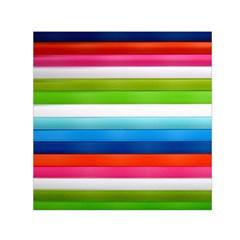 Colorful Plasticine Small Satin Scarf (square) by BangZart