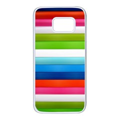 Colorful Plasticine Samsung Galaxy S7 White Seamless Case by BangZart