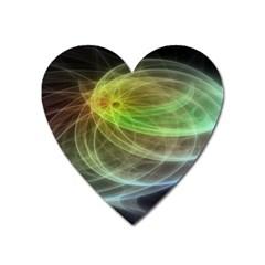 Yellow Smoke Heart Magnet by BangZart