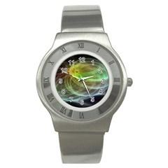 Yellow Smoke Stainless Steel Watch