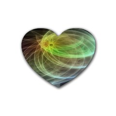 Yellow Smoke Rubber Coaster (heart)  by BangZart