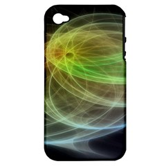 Yellow Smoke Apple Iphone 4/4s Hardshell Case (pc+silicone)