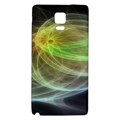 Yellow Smoke Galaxy Note 4 Back Case by BangZart