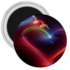 Neon Heart 3  Magnets by BangZart