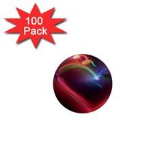 Neon Heart 1  Mini Magnets (100 Pack)