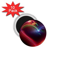 Neon Heart 1 75  Magnets (10 Pack)