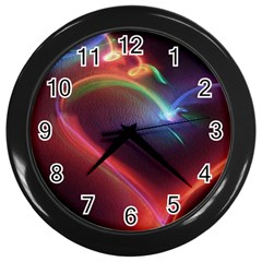 Neon Heart Wall Clocks (black) by BangZart