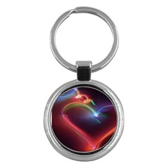 Neon Heart Key Chains (round)  by BangZart