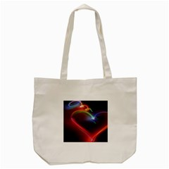Neon Heart Tote Bag (cream) by BangZart