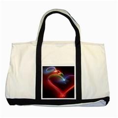 Neon Heart Two Tone Tote Bag by BangZart