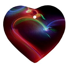 Neon Heart Heart Ornament (two Sides) by BangZart
