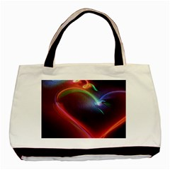 Neon Heart Basic Tote Bag (two Sides) by BangZart
