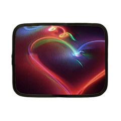Neon Heart Netbook Case (small)  by BangZart