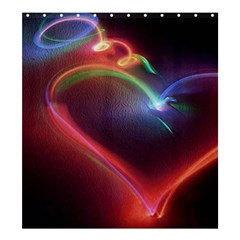 Neon Heart Shower Curtain 66  X 72  (large)  by BangZart