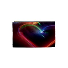 Neon Heart Cosmetic Bag (small)  by BangZart