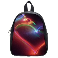 Neon Heart School Bags (small)  by BangZart