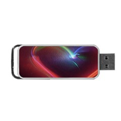 Neon Heart Portable Usb Flash (one Side) by BangZart
