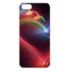 Neon Heart Apple Iphone 5 Seamless Case (white)