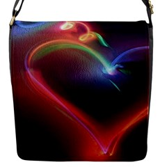 Neon Heart Flap Messenger Bag (s)