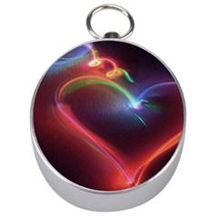 Neon Heart Silver Compasses
