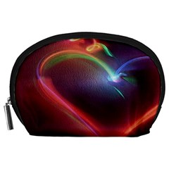Neon Heart Accessory Pouches (large)  by BangZart