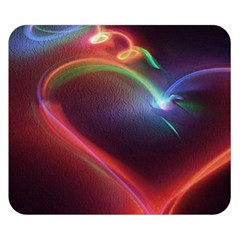 Neon Heart Double Sided Flano Blanket (small)  by BangZart