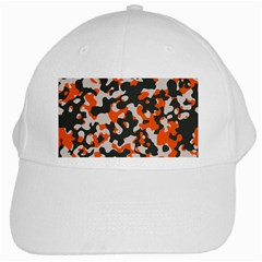 Camouflage Texture Patterns White Cap by BangZart