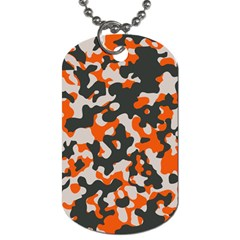 Camouflage Texture Patterns Dog Tag (two Sides) by BangZart