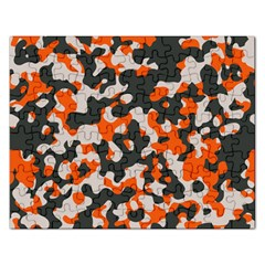 Camouflage Texture Patterns Rectangular Jigsaw Puzzl by BangZart