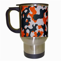 Camouflage Texture Patterns Travel Mugs (white) by BangZart