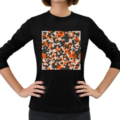 Camouflage Texture Patterns Women s Long Sleeve Dark T Shirts by BangZart