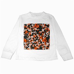 Camouflage Texture Patterns Kids Long Sleeve T Shirts