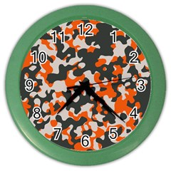 Camouflage Texture Patterns Color Wall Clocks by BangZart