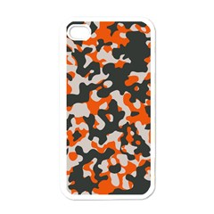 Camouflage Texture Patterns Apple Iphone 4 Case (white)