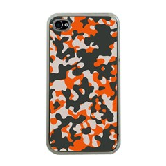 Camouflage Texture Patterns Apple Iphone 4 Case (clear)