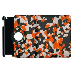 Camouflage Texture Patterns Apple Ipad 2 Flip 360 Case by BangZart