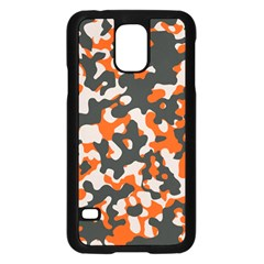 Camouflage Texture Patterns Samsung Galaxy S5 Case (black) by BangZart