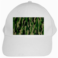 Green Military Vector Pattern Texture White Cap