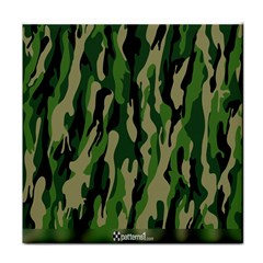Green Military Vector Pattern Texture Tile Coasters
