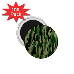 Green Military Vector Pattern Texture 1 75  Magnets (100 Pack)  by BangZart