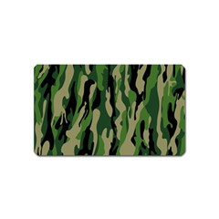 Green Military Vector Pattern Texture Magnet (name Card) by BangZart