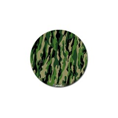 Green Military Vector Pattern Texture Golf Ball Marker by BangZart