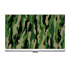 Green Military Vector Pattern Texture Business Card Holders by BangZart