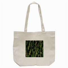Green Military Vector Pattern Texture Tote Bag (cream) by BangZart