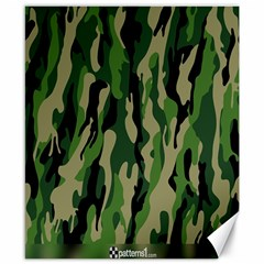 Green Military Vector Pattern Texture Canvas 8  X 10  by BangZart