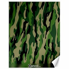 Green Military Vector Pattern Texture Canvas 18  X 24