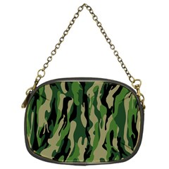Green Military Vector Pattern Texture Chain Purses (one Side)  by BangZart